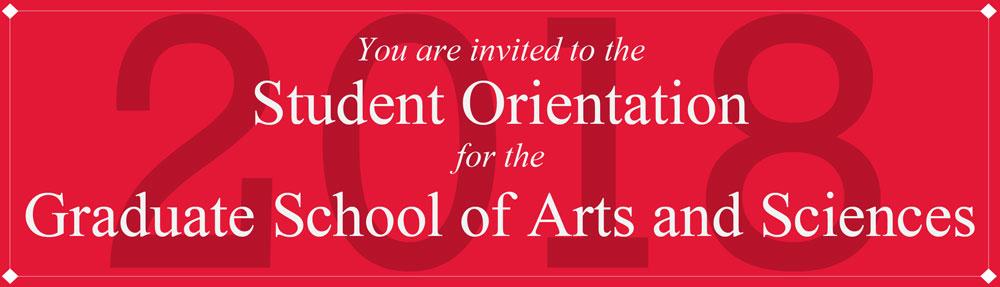 2018 Graduate Orientation